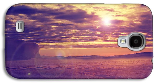 Landscapes Pyrography Galaxy S4 Cases - Sunset in the desert Galaxy S4 Case by Jelena Jovanovic