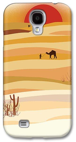 Sunset In The Desert Galaxy S4 Case by Neelanjana  Bandyopadhyay