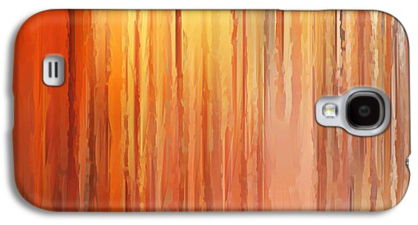 Sunset Abstract Paintings Galaxy S4 Cases - Sunset Infinity Galaxy S4 Case by Lourry Legarde