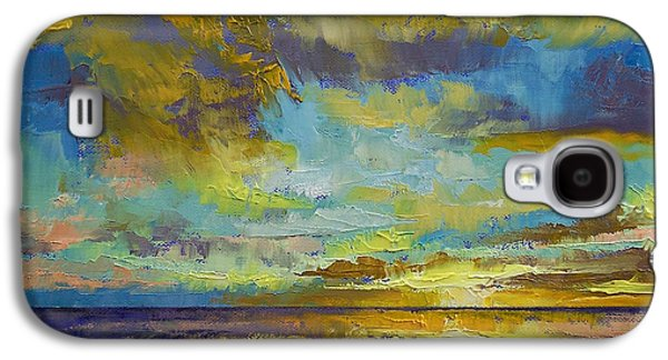 Sunset Abstract Paintings Galaxy S4 Cases - Sunset Key Largo Galaxy S4 Case by Michael Creese