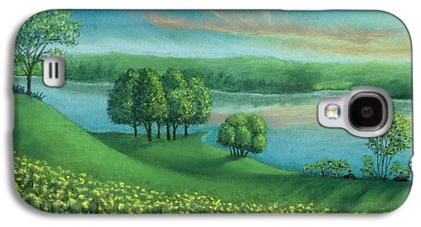 Skylines Pastels Galaxy S4 Cases - Sunset Lake A Galaxy S4 Case by Michael Heikkinen