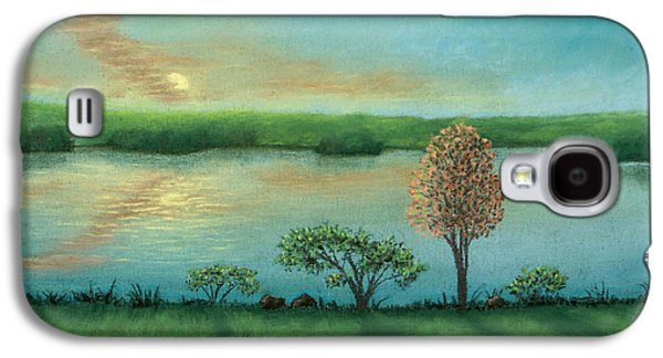 Skylines Pastels Galaxy S4 Cases - Sunset Lake B Galaxy S4 Case by Michael Heikkinen