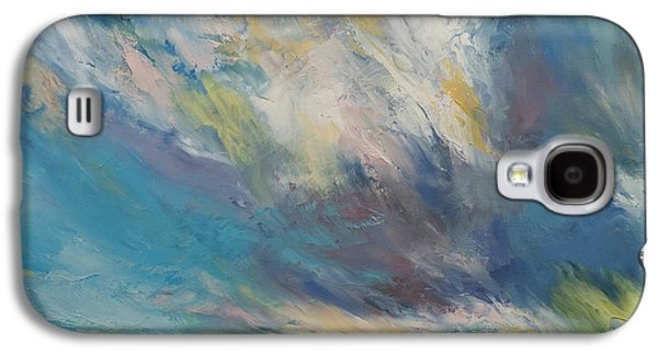Sunset Abstract Galaxy S4 Cases - Clouds at Sunset Galaxy S4 Case by Michael Creese