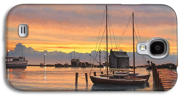 Harbor Paintings Galaxy S4 Cases - Sunset-North Dock At Pelee Island   Galaxy S4 Case by Paul Krapf