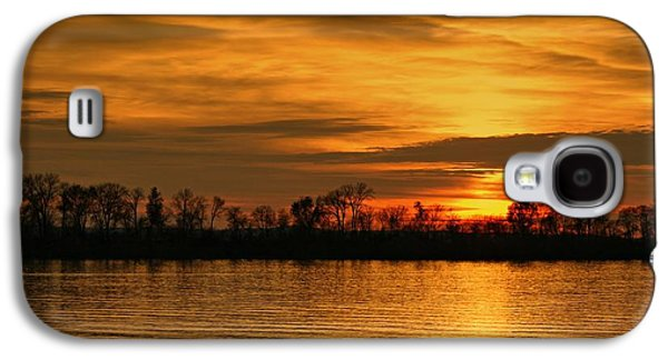 Sunset - Ohio River Galaxy S4 Case by Sandy Keeton