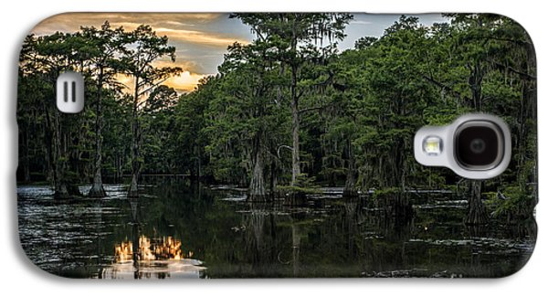Tamyra Ayles Galaxy S4 Cases - Sunset on Caddo Lake Galaxy S4 Case by Tamyra Ayles