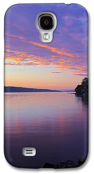 Nature Center Pond Galaxy S4 Cases - Sunset On Cayuga Lake Cornell Sailing Center Ithaca New York III Galaxy S4 Case by Paul Ge