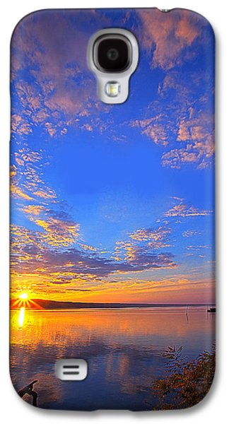 Ithaca Galaxy S4 Cases - Sunset On Cayuga Lake III Ithaca New York Galaxy S4 Case by Paul Ge