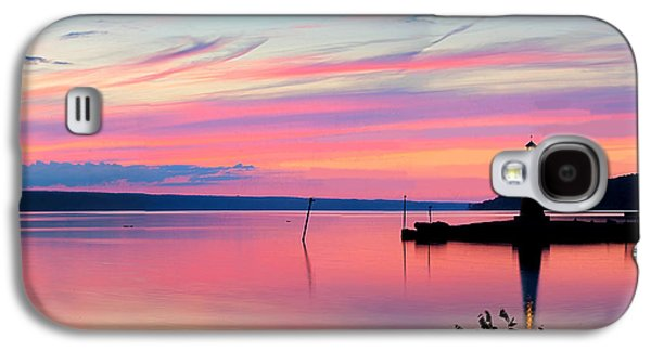 Ithaca Galaxy S4 Cases - Sunset On Cayuga Lake Ithaca New York Galaxy S4 Case by Paul Ge