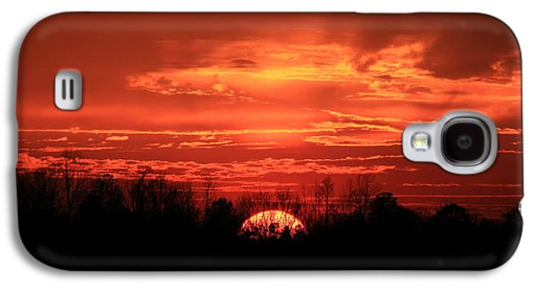 Pastureland Galaxy S4 Cases - Sunset On Fire  Galaxy S4 Case by Reid Callaway