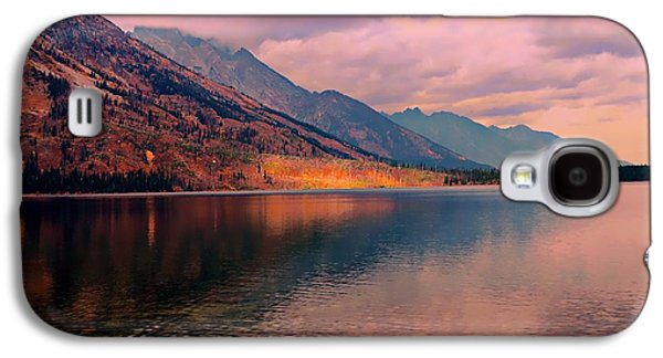 Sunset Abstract Galaxy S4 Cases - Sunset On Jenny Lake Galaxy S4 Case by Kathleen Struckle