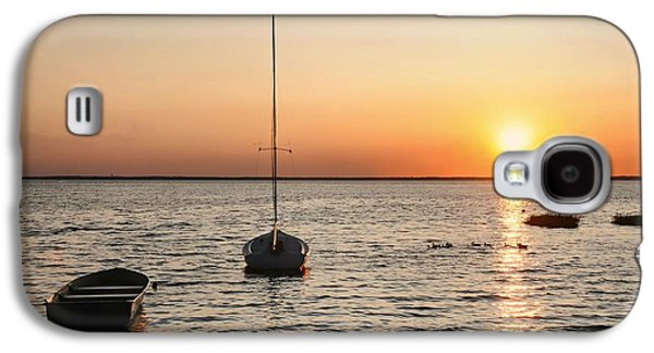 Beach Landscape Galaxy S4 Cases - Sunset on LBI Galaxy S4 Case by Diana Angstadt