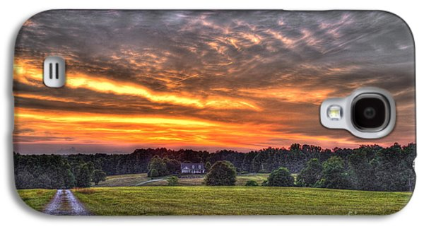Pastureland Galaxy S4 Cases - Take Me Home Sunset on Lick Skillet Road  Galaxy S4 Case by Reid Callaway
