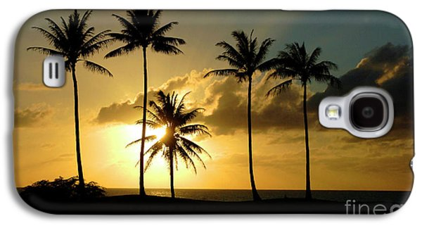 Sports Pastels Galaxy S4 Cases - Sunset On Molokai Hawaii Galaxy S4 Case by Bob Christopher