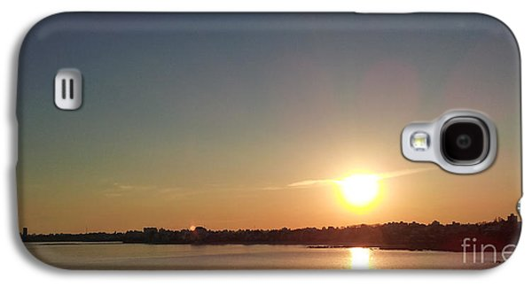 Cities Pyrography Galaxy S4 Cases - Sunset on Montevideo Galaxy S4 Case by Pablo Franchi