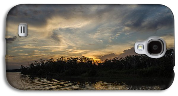 Transportation Photographs Galaxy S4 Cases - Sunset on the Amazon 1 Galaxy S4 Case by Allen Sheffield