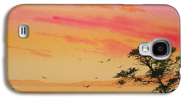 Sunset Greeting Cards Galaxy S4 Cases - Sunset on the Coast Galaxy S4 Case by James Williamson