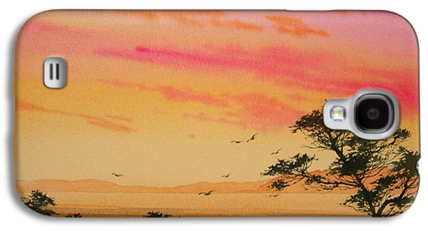 Sunset Framed Prints Galaxy S4 Cases - Sunset on the Coast Galaxy S4 Case by James Williamson