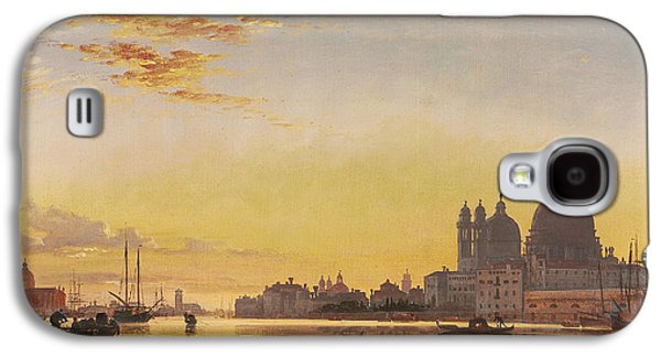Sailboats In Harbor Galaxy S4 Cases - Sunset on the Lagoon of Venice Galaxy S4 Case by Edward William Cooke