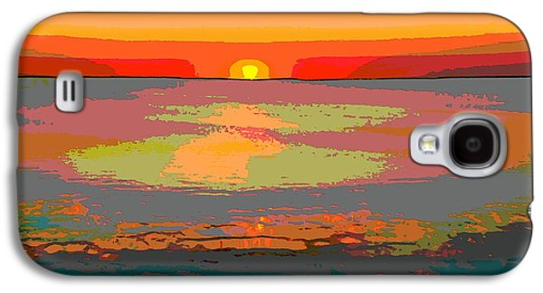 Sunset Posters Galaxy S4 Cases - Sunset On The Lake Galaxy S4 Case by Dan Sproul