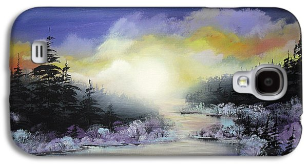Recently Sold -  - Bob Ross Paintings Galaxy S4 Cases - Sunset On The River Galaxy S4 Case by Irina Rumyantseva
