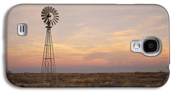 Color Image Galaxy S4 Cases - Sunset on the Texas Plains Galaxy S4 Case by Melany Sarafis