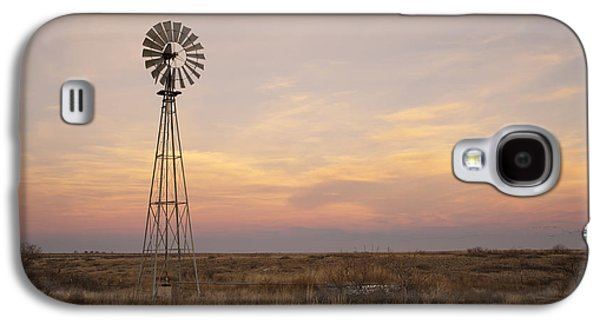 Windmill Galaxy S4 Cases - Sunset on the Texas Plains Galaxy S4 Case by Melany Sarafis