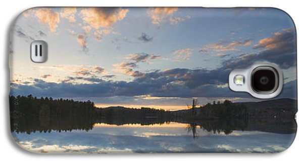 Trees Reflecting In Water Galaxy S4 Cases - Sunset Over Flying Pond in Vienna Maine Galaxy S4 Case by Keith Webber Jr