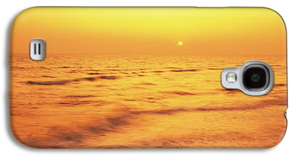 Beach Photography Galaxy S4 Cases - Sunset Over Gulf Of Mexico, Panama City Galaxy S4 Case by Panoramic Images