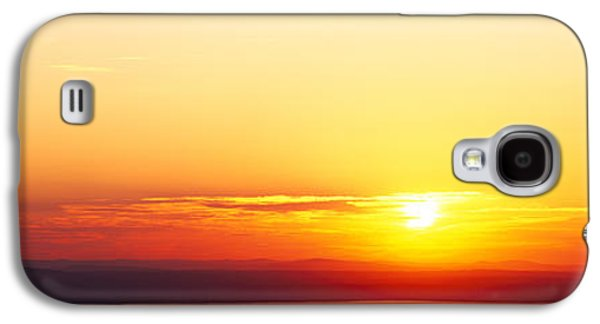 Maine Mountains Galaxy S4 Cases - Sunset Over Mountain Range, Cadillac Galaxy S4 Case by Panoramic Images