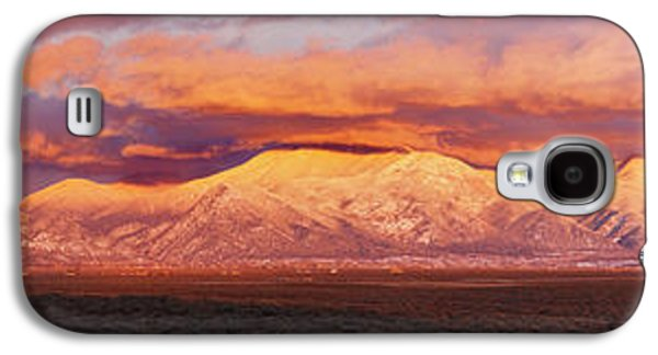 Taos Galaxy S4 Cases - Sunset Over Mountain Range, Sangre De Galaxy S4 Case by Panoramic Images