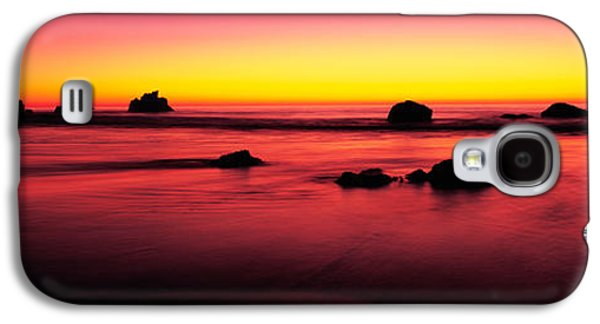 Big Sur California Galaxy S4 Cases - Sunset Over Rocks In The Ocean, Big Galaxy S4 Case by Panoramic Images