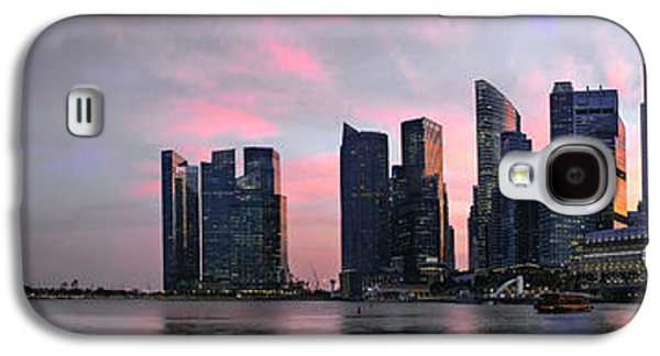 Busines Galaxy S4 Cases - Sunset Over Singapore Skyline Panorama Galaxy S4 Case by JPLDesigns