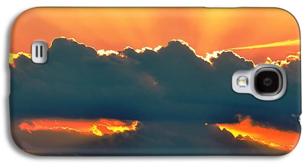 Landscape Posters Galaxy S4 Cases - Sunset Over Southern Ohio Galaxy S4 Case by Chris Flees