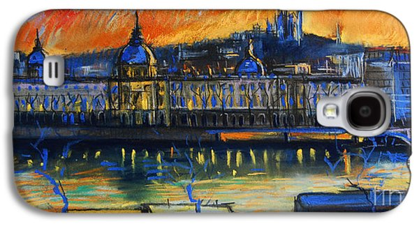 Light Pastels Galaxy S4 Cases - Sunset Over The City - Lyon France Galaxy S4 Case by Mona Edulesco