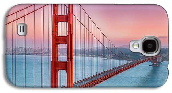 Sausalito Galaxy S4 Cases - Sunset over the Golden Gate Bridge Galaxy S4 Case by Sarit Sotangkur