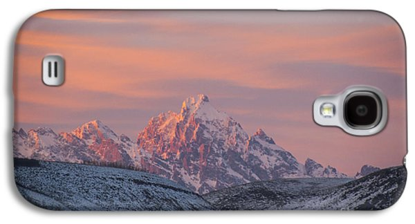 Environmental Galaxy S4 Cases - Sunset over the Grand Tetons Galaxy S4 Case by Juli Scalzi