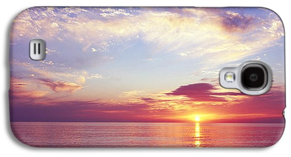 Reflection Of Sun In Clouds Galaxy S4 Cases - Sunset Over The Ocean, Gulf Of Mexico Galaxy S4 Case by Panoramic Images