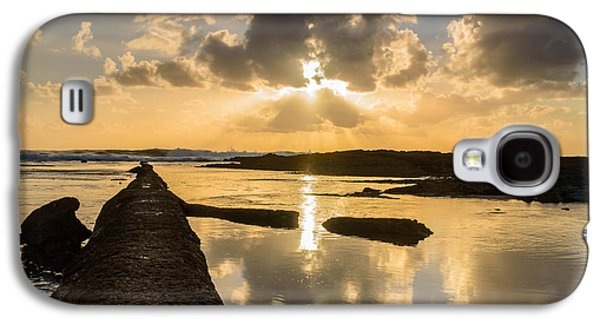 Gloaming Galaxy S4 Cases - Sunset Over The Ocean I Galaxy S4 Case by Marco Oliveira