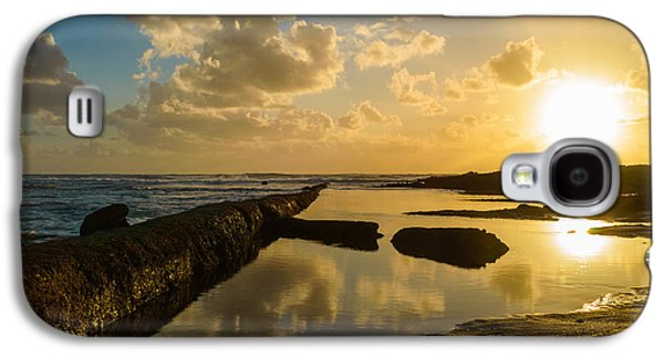 Gloaming Galaxy S4 Cases - Sunset Over The Ocean II Galaxy S4 Case by Marco Oliveira