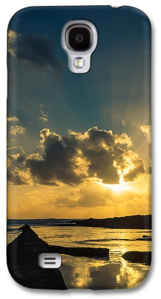 Gloaming Galaxy S4 Cases - Sunset Over The Ocean IV Galaxy S4 Case by Marco Oliveira