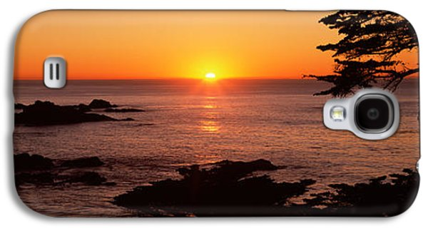 Point Lobos State Galaxy S4 Cases - Sunset Over The Sea, Point Lobos State Galaxy S4 Case by Panoramic Images
