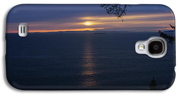 Reflection Of Sun In Clouds Galaxy S4 Cases - Sunset Over The Sea, Strait Of Juan De Galaxy S4 Case by Panoramic Images