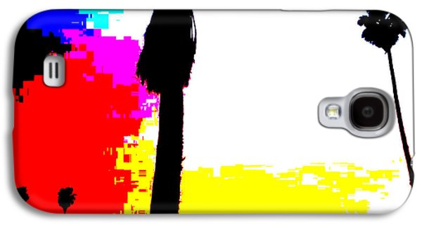 Abstract Digital Art Galaxy S4 Cases - Sunset Over Twenty Eight Palms Galaxy S4 Case by James Harper