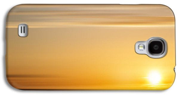 Sunset Abstract Galaxy S4 Cases - Sunset Over Valley Galaxy S4 Case by Barry Chignell