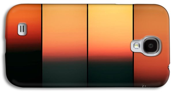 Sunset Abstract Galaxy S4 Cases - Sunset Panels Galaxy S4 Case by John Rizzuto