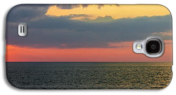 Sun Galaxy S4 Cases - Sunset panorama over Atlantic ocean Galaxy S4 Case by Elena Elisseeva
