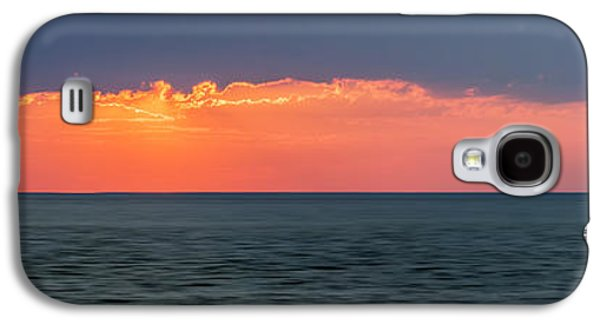 Sun Galaxy S4 Cases - Sunset panorama over ocean Galaxy S4 Case by Elena Elisseeva
