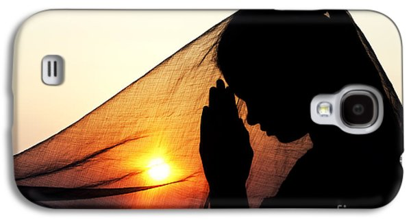 Religious Galaxy S4 Cases - Sunset Prayers Galaxy S4 Case by Tim Gainey