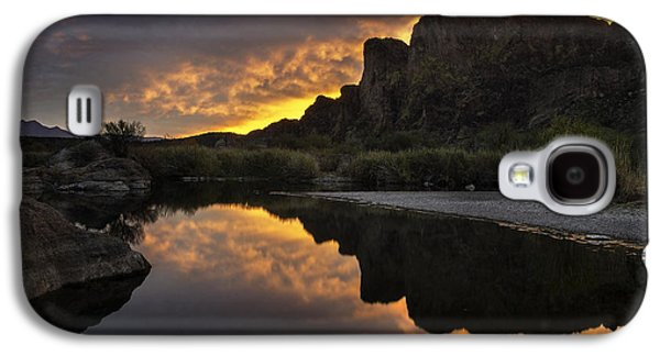 Reflecting Water Galaxy S4 Cases - Sunset Reflections 1 Galaxy S4 Case by Dave Dilli